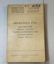 TM5 2069  KOREAN WAR DEPARTMENT BOOK ARMY DISTILLATION UNIT OCTOBER 1952 53A