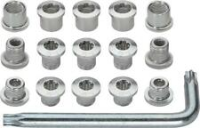 FSA Torx T-30 Alloy Mountain Chainring Nut/Bolt Set wiith tool: Silver