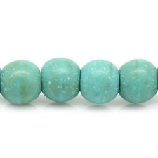 10 Strands Turquoise Loose Beads Round Green 4mm