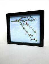 Vintage Glass Picture - Art Canvas - Tiger's Eye - Red Jasper - Sea Glass