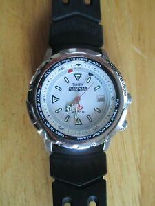 Men's Timex Reef Gear Alarm Quartz Watch New Battery VGC