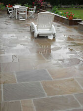 Autumn Brown Indian Sandstone Paving 22mm Calibrated Patio Slabs (19m2 Pack)