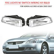 2X Fog Light W/ Switch Wiring H11 Bulb KIT For Honda Accord Acura 2003-2007