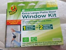 "Duck Brand Indoor XL Patio Door/LG window clear Shrink Insulating Film 84"" NEW"