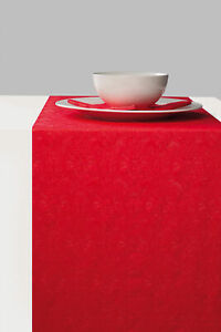Ambiente Paper Table Runner 33cm x 6m Elegance Red Christmas Xmas Party Wedding