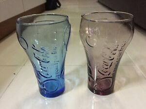 McDonalds Coca Cola Contour Coke Glass Set NEW 2x