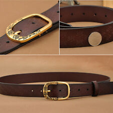 HOT! Women Classic Beauty Gift Lady Genuine Real leather Cowhide Pin Buckle Belt