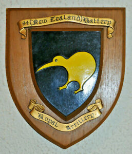 94 (New Zealand) Battery Royal Artillery regimental plaque shield