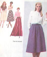 Raro Vintage Usado 1979 simplicidad envuelva la falda patrón de costura Talla 16 Free UK Post