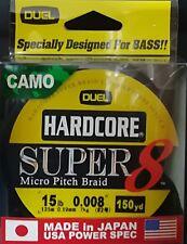 DUEL HARDCORE SUPER 8 MICRO PITCH BRAID LINE CAMO 15lb 0.19mm 150yd COL CAMO