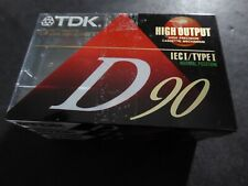 3 Pack Sealed TDK D90 High Output 90 Minute IECI/Type I Audio Cassette Tapes