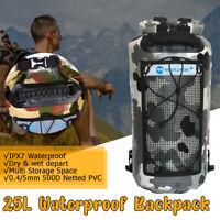 25L Waterproof Dry Bag Sack For Canoe Floating Boating Kayaking Camping Backpack