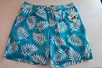 Trunks Brand Men's XXL Short Trunk Trunks Mesh Lined Board Shorts NWT Turquoise