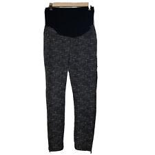 Liverpool Jeans Company Maternity Pants Legging Black Gray Full Panel Sz 2 / 26