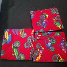 Set of 3 Handmade Pillowcases Red 2 Reg and  body pillowcase Monster Trucks