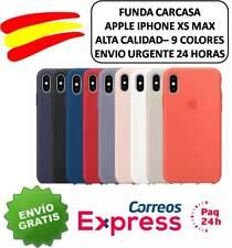 """FUNDA CARCASA SILICONA NUEVO IPHONE XS MAX 6,5"""" LOGO. VARIOS COLORES ENVIO 24H"""