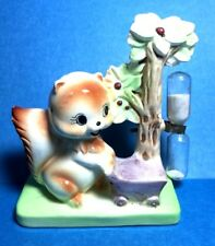 "Vintage Rare ""Squirrel Pushing A Cart"" Sand Egg Timer"