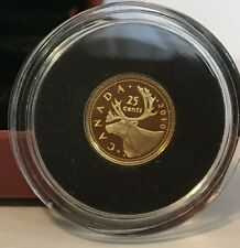 CANADA  2010 GOLD  0.5 gms  COIN,  **THE CARIBOU**  WITH BOX, COA & OUTER SLEEVE