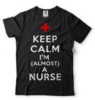 Future Nurse Keep Calm I'm A Almost A Nurse T-shirt Gift For Nurse Tee Shirt