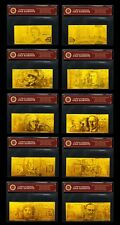 24KT 99.99% Gold Australian Bank Note Set Rare Paper Banknote Limited Edition