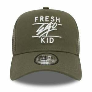 Fresh Ego Kid New Era Mesh Trucker Cap - Khaki/White