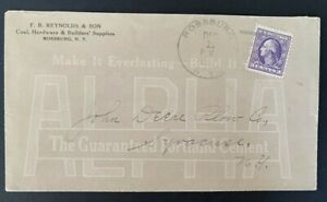 Rossburg NY Alpha Cement Allover Advertising Cover Syracuse 3c Violet Washington