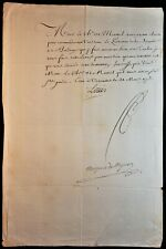 KING LOUIS XV SIGNED MILITARY APPOINTMENT - KNIGHT MONTEIL TO COMMAND SHIP 1773