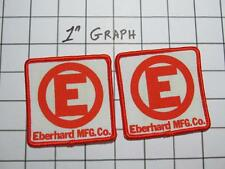 "Pair Vintage Company Logo Patches - ""Eberhard Mfg. Co."" Ohio - NOS Mint"