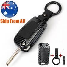 For Audi A3 A4 A6 Q3 Q7 TT S1 S3 Car Carbon Fiber Key Shell Fob Case Remote