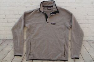 Mens PATAGONIA Gray Snap T Marsupial Pullover Fleece Better Sweater Large