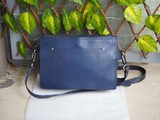 Bag / Sac à main en cuir Nat & Nin modèle Brigitte Bleu foncé