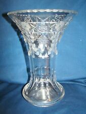 "Hawkes Cut & Engraved Glass 10"" Vase"