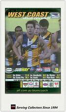 2005 AFL Teamcoach Subway Green Captains Wild Card C15 Ben Cousins