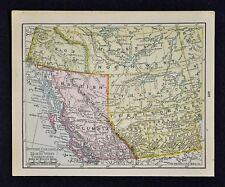 1900 McNally Map - British Columbia Northwest Territories Yukon Vancouver Canada