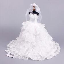 Handmade Wedding Dress Set Dress Ball Gown  for Barbie