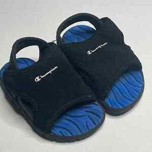Champion Infant Splash Sandal Toddler Size 4 Wide Open Toe Hook & Loop
