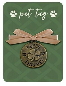 Victorian Trading Co Bless This Pet Irish Blessing Cat or Dog Collar Tag Charm
