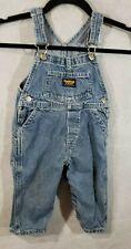 Osh Kosh B'Gosh Overalls Blue Denim Size 24 months VestBak Genuine Diaper Acess