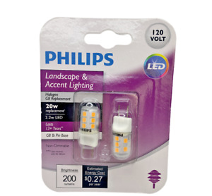 Philips 20W Equivalent T4 G8 Bi-Pin Base LED Special Purpose Light Bulb 2-Pack