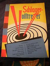 Partition Schlager Volltreffer 1960 Accordéon 11 Morceaux