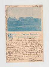 21.7.1898 gel. Stempel DAGEBÜLL - Amrun REKLAME AK Gruss vom LUSTIGEN SEEHUND