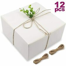 Moretoes White Boxes Gift 12pcs 8x8x4 Inches, Paper With Lids For Gifts, Box,