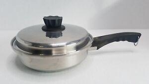 Lustre Craft Multi Core 5 Ply Stainless Steel 1 Quart Sauce Pan USA