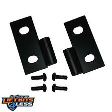 Rugged Ridge 11202.03 Gloss Black Lower Door Hinge Pair for 1976-1995 Jeep CJ-5