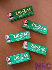 5 Books! ZIG-ZAG Cut Corners 1.0 Cigarette Rolling Papers!