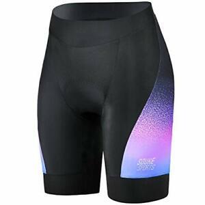 NWT Souke Sports Women's Purple Accent Padded Cycling Bike Shorts Size Large