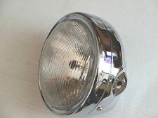 "Chrome Motorcycle Headlight H4 Bulb Universal 7"" Honda Kawasaki Suzuki Yamaha"
