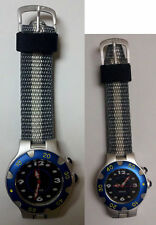 New His and Hers Watches by Chaos, Silver Tone with Blue Bezel.
