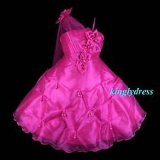 NEW Flower Girl Pageant Wedding Bridesmaid Party Dress Fuchsia Wears SZ 7 Z20H