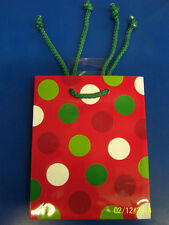 Polka Dot Christmas Winter Holiday Dots Party Glitter Small Mini Gift Wrap Bag
